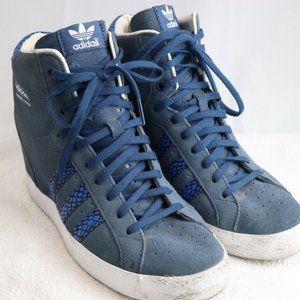 Adidas Basket Profi Suede Sneaker-Wedge Sz 8.5